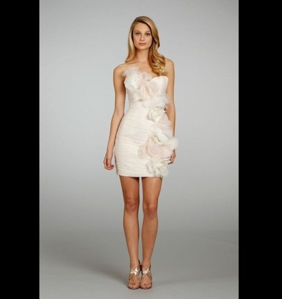"""This dress is soft and romantic, but the short length makes it youthful and modern.<br><a href=""""http://lover.ly/color/pink?e="""