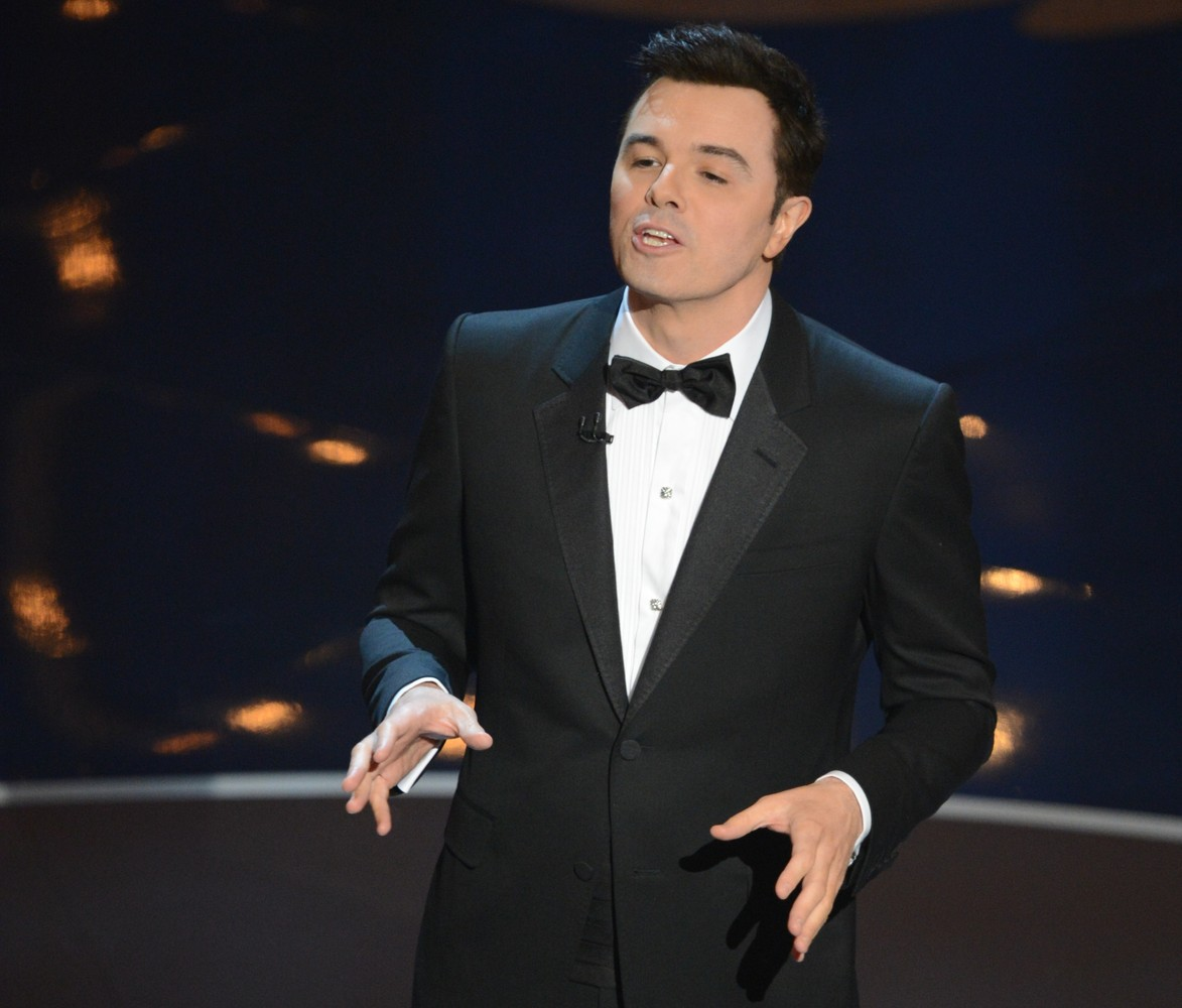 Host Seth MacFarlane speaks during the show at the 85th Annual Academy Awards on February 24, 2013 in Hollywood, California.