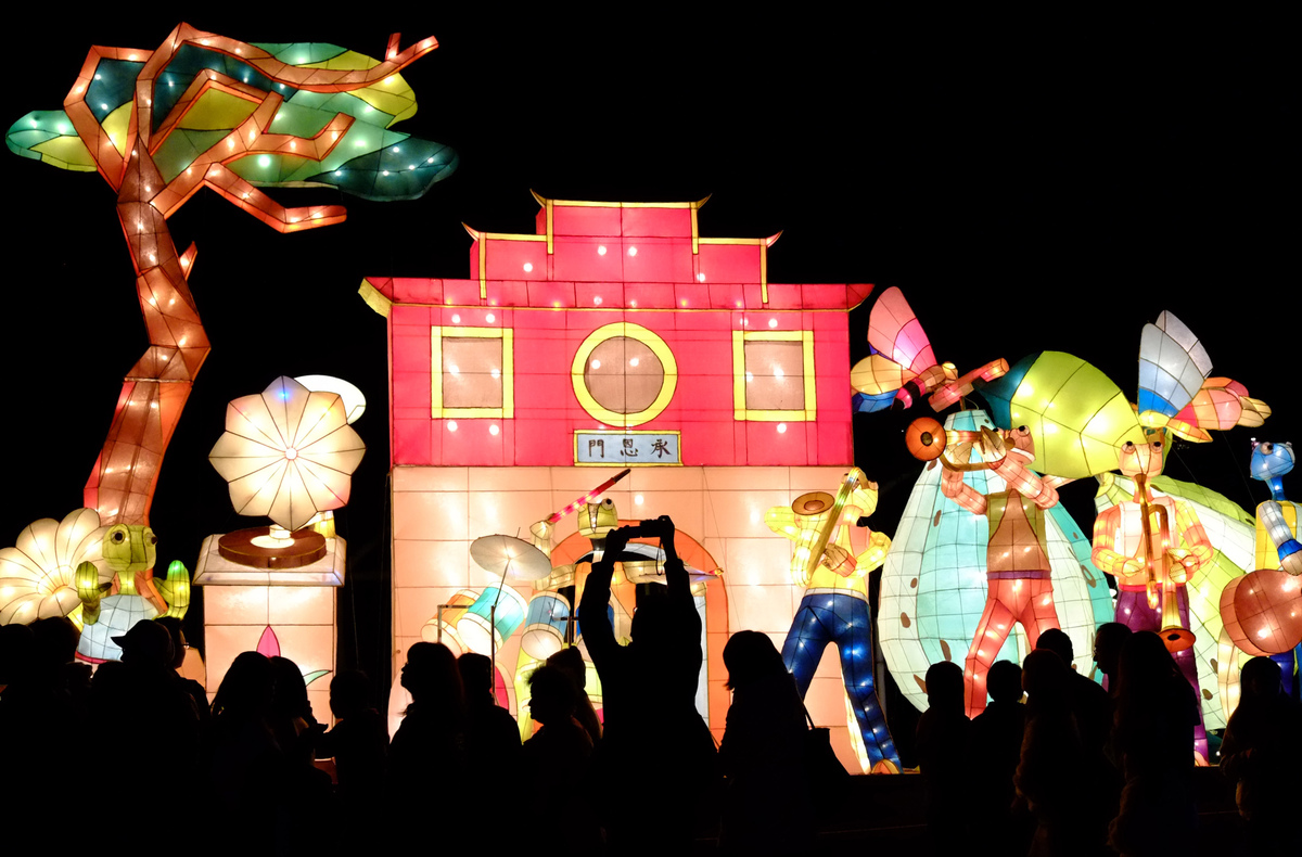 Visitors view elaborate lanterns during the Lantern Festival that marks the end to the Chinese lunar New Year celebrations. (