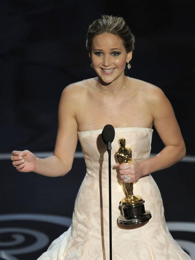 """This is nuts,"" Jennifer Lawrence exclaimed after winning Best Actress at the Academy Awards on Sunday night. That quote -- a"