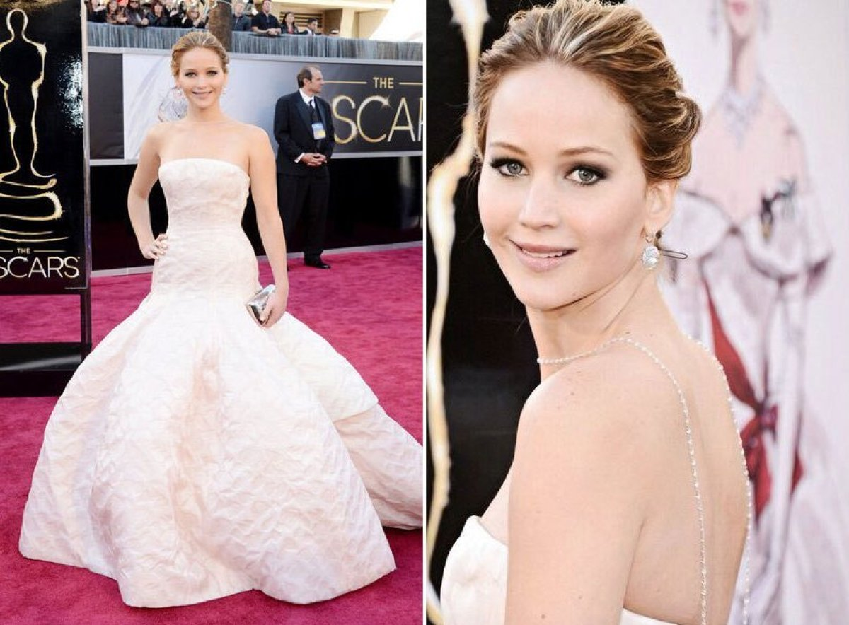 <strong>Jennifer Lawrence in Dior Haute Couture. </strong> Belle of the ball! The <em>Silver Linings Playbook</em> star was t