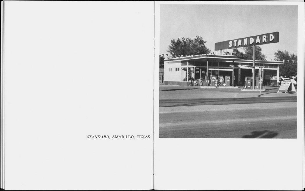 "Interior view of ""Twenty Six Gasoline Stations"" © Edward Ruscha. Courtesy Gagosian Gallery"""