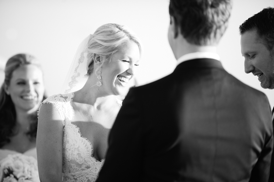 Piper and Jeff Pope's 2012 wedding in Laguna Beach, Calif., was officiated by Jeff's brother, and at one point during the cer