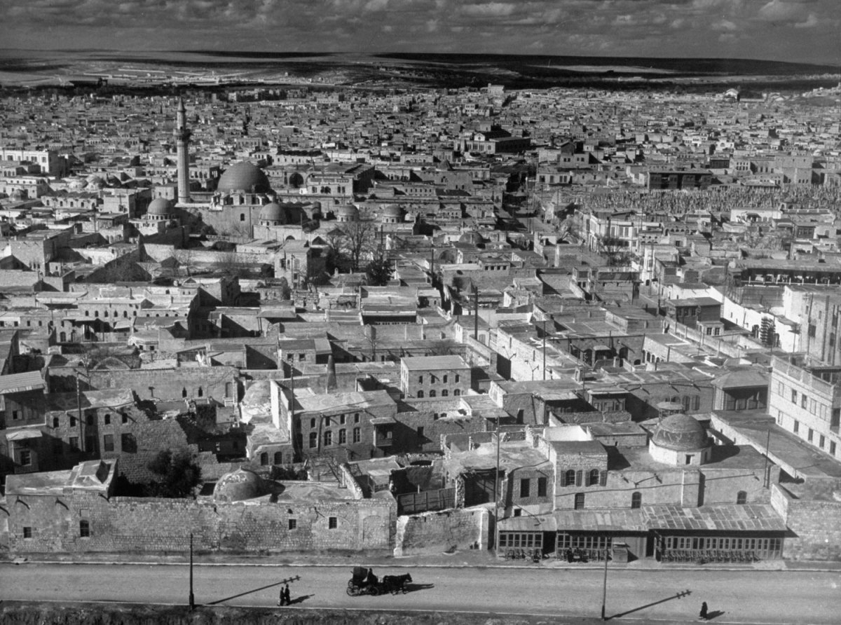 View from above Aleppo, Syria, 1940.