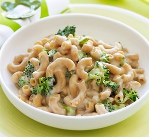"Try this <a href=""http://www.recipe.com/broccoli-mac-n-cheese/?socsrc=recpin021213mpbroccolimacandcheese"">Broccoli Mac 'N' Ch"