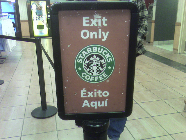 "But ""éxito"" actually means ""success.""  <a href=""http://www.flickr.com/photos/rudy_kleysteuber/730820340/"">Rudy.Keysteuber @ F"