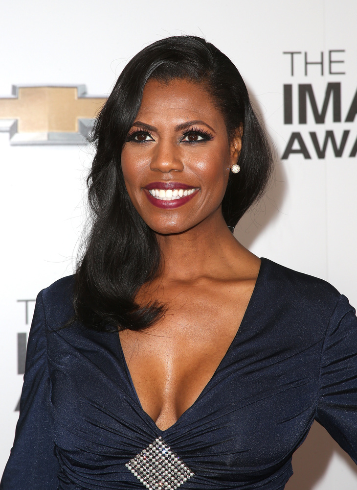 LOS ANGELES, CA - FEBRUARY 01:  TV personality Omarosa Manigault arrives at the 44th NAACP Image Awards held at The Shrine Au