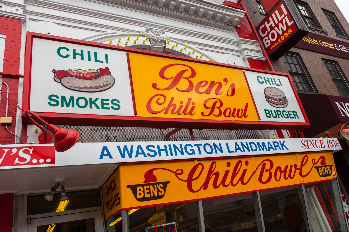 """No conversation about chili in D.C. can leave off <a href=""""http://www.benschilibowl.com/ordereze/default.aspx"""">Ben's Chili Bo"""