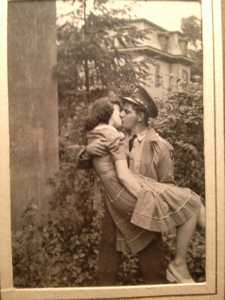 """My favorite picture of my grandparents. My grandfather had just got back from war."""