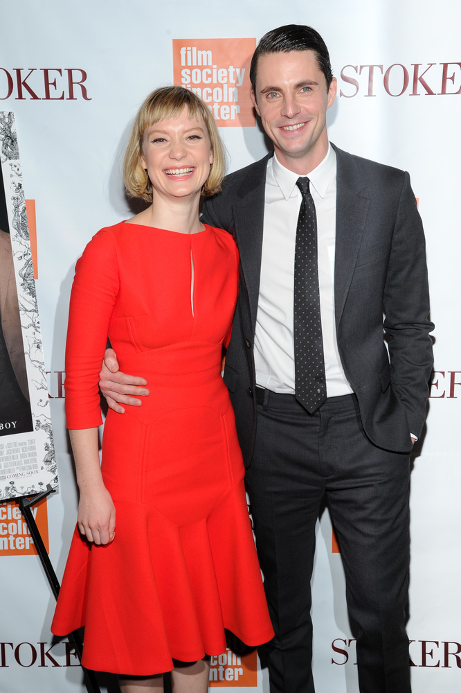 "Actors Mia Wasikowska and Matthew Goode attend the premiere of ""Stoker"" at Walter Reade Theatre on Wednesday, Feb. 27, 2013 i"