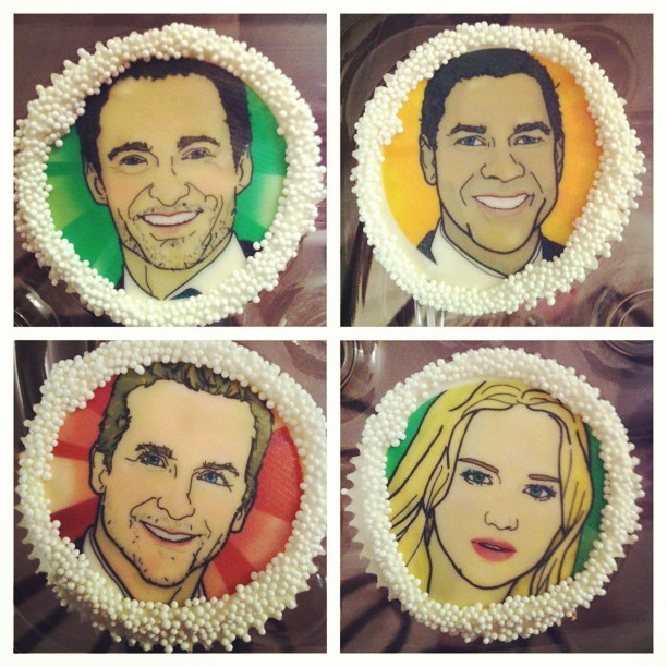 How amazing are these #Oscars cupcakes?