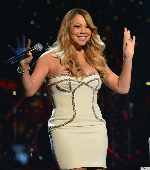 """Is that what we <em>think</em> it is? <a href=""""http://www.huffingtonpost.com/2013/02/27/mariah-carey-slip-boobs-nipples_n_277"""