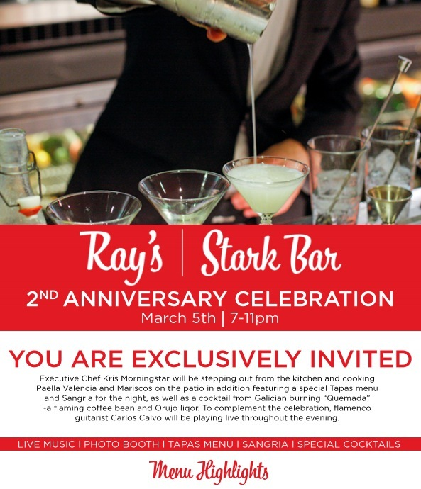 """Celebrate the second anniversary of<a href=""""https://plus.google.com/116892064098114264269/about"""">Ray's & Stark Bar<"""