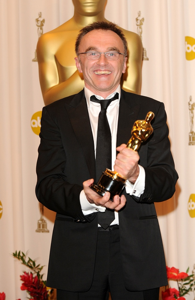 Danny Boyle with the Best Director award, received for Slumdog Millionaire, at the 81st Academy Awards at the Kodak Theatre,