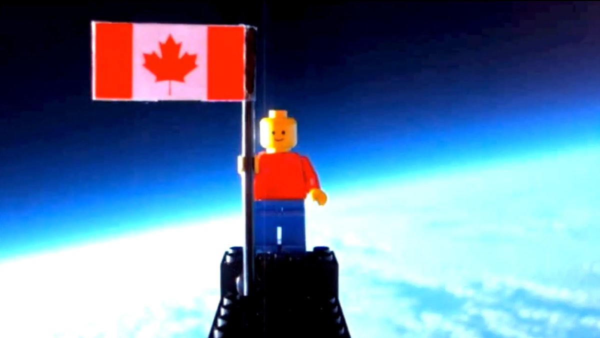 Canadian teenagers Mathew Ho and Asad Muhammad launched a lego man into space.