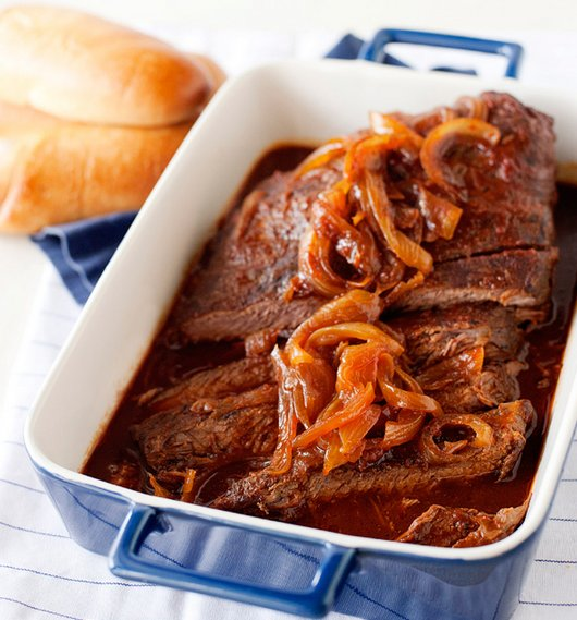 "<strong>Get the <a href=""http://bakedbree.com/root-beer-brisket"">Root Beer Brisket recipe from Baked Bree</a></strong>"