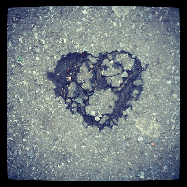 """I walk over this patch of road every day, but it was only on Valentine's Day (I kid you not) that I noticed <a href=""""http://i"""