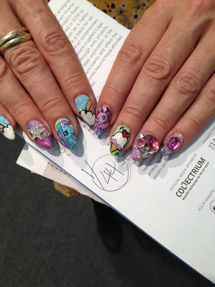 My Little Pony nails?! We must be dreaming... Vanity Project's Rita Pinto is holding nail art sessions Saturday at PS1. <a hr