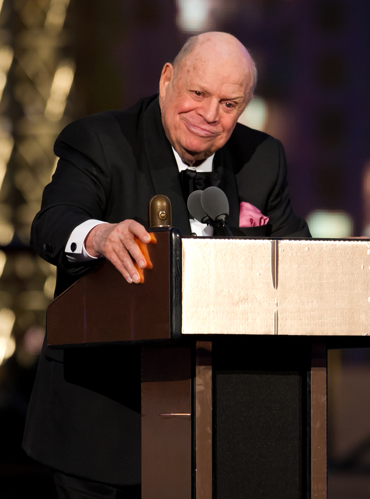 Comedian Don Rickles at the 2012 Comedy Awards in April 2012.