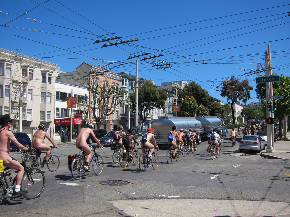 SF's new nudity laws be damned, the World Naked Bike Ride returns for a mid-day bike tour of San Francisco's tourist hot spot