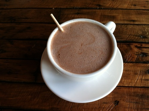 """This """"social coffee house"""" from former entertainment industry executive Sonny Mediana offers Cocoa Chaud ($3.75) as a decaff"""
