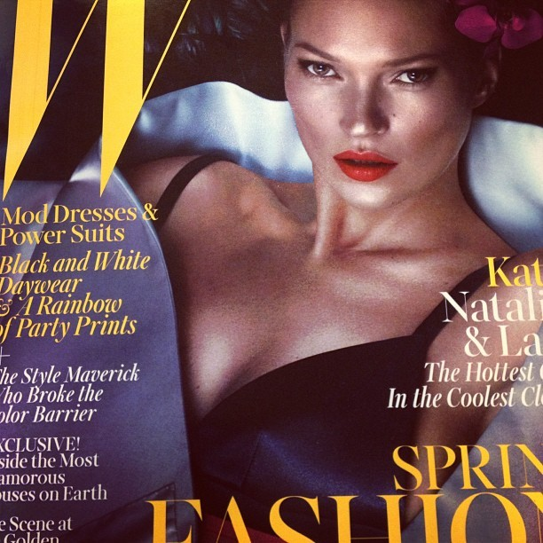 Dear Kate, you can do no wrong in our beauty book. #magazines #makeup #models