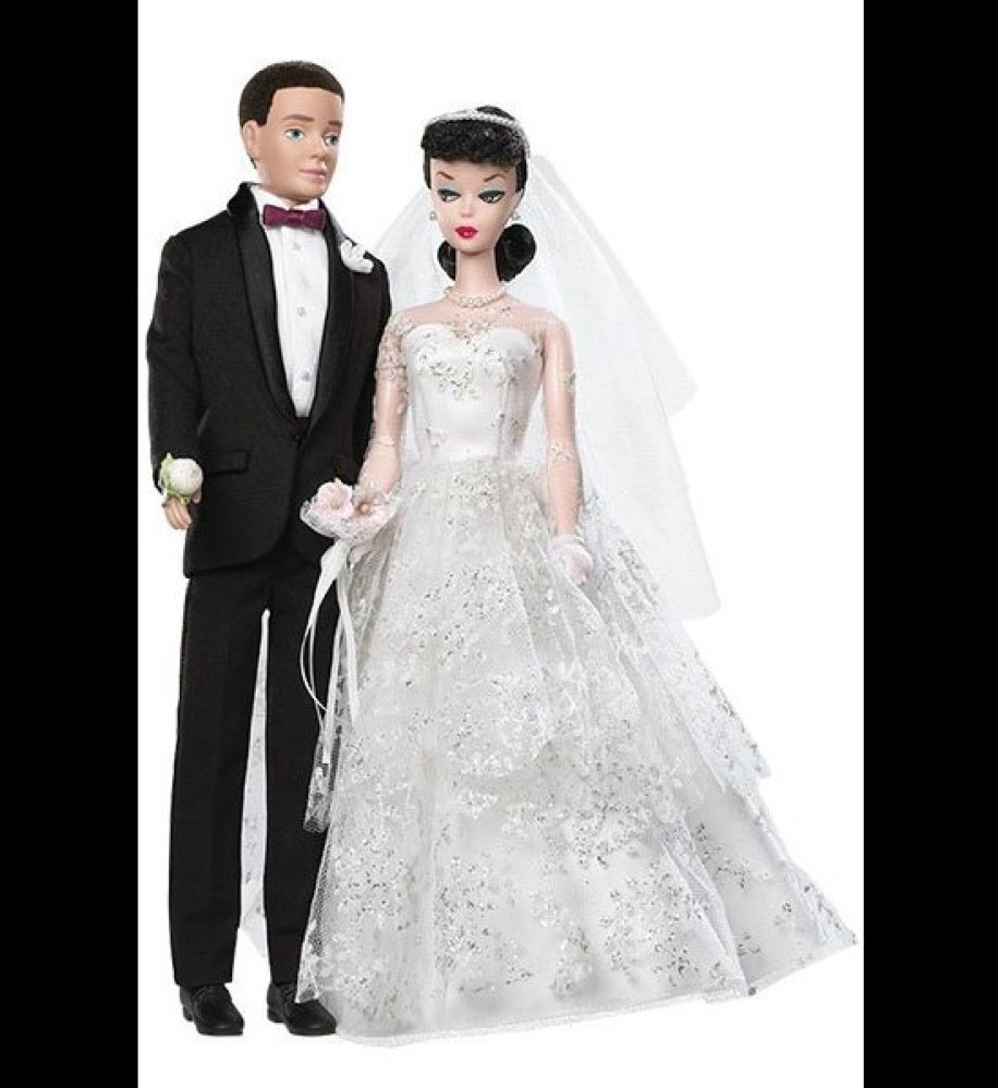 Re-released in 2009 to celebrate the doll's 50th anniversary, this iconic doll's sweetheart neckline and gloves perfe