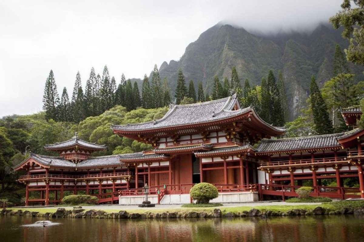 Located at the base of the Ko'olau Mountains, this non-practicing Buddhist temple was built to commemorate the 100-year anniv