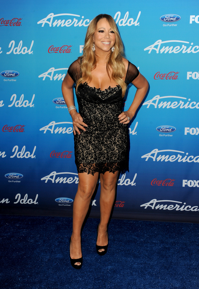 LOS ANGELES, CA - MARCH 07:  Judge Mariah Carey attends the FOX 'American Idol' finalists party at The Grove on March 7, 2013