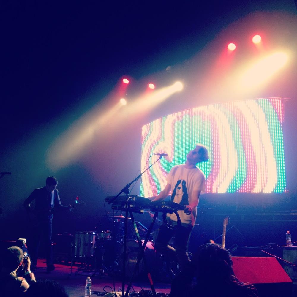 STRFKR at the Fonda Theatre in Los Angeles, CA. Taken by instagrammer @b_money_z