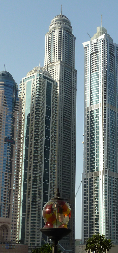 As of 2012, The Princess Tower in Dubai, United Arab Emirates stands as the world's tallest residential skyscraper at 1,358 f