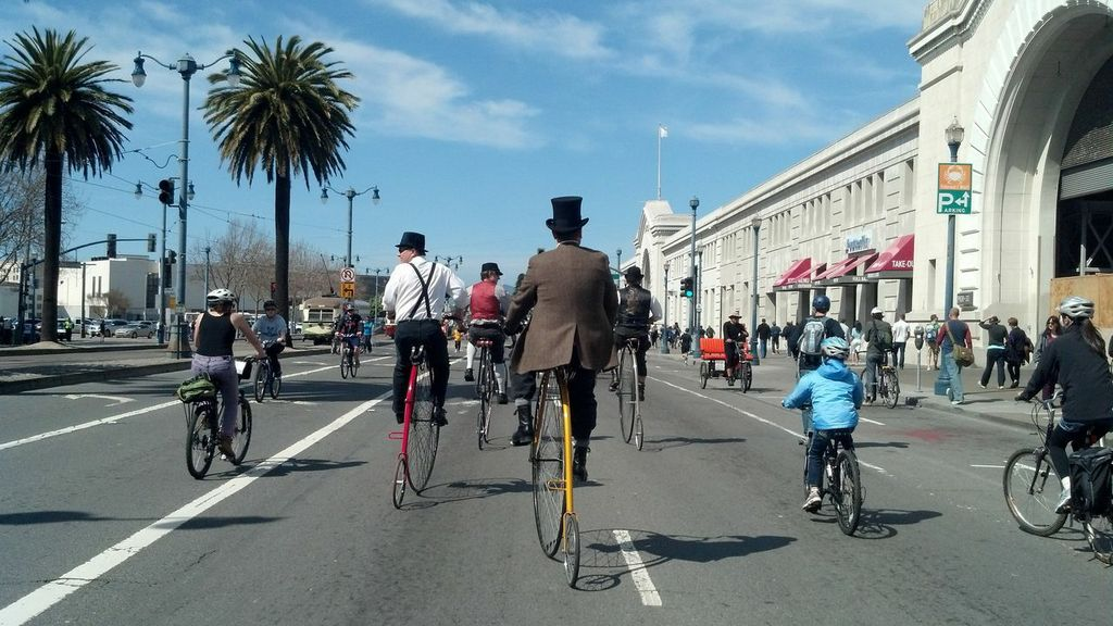The first Sunday Streets kicked off with musical performances, scientific demonstrations and more than three miles of car-fre