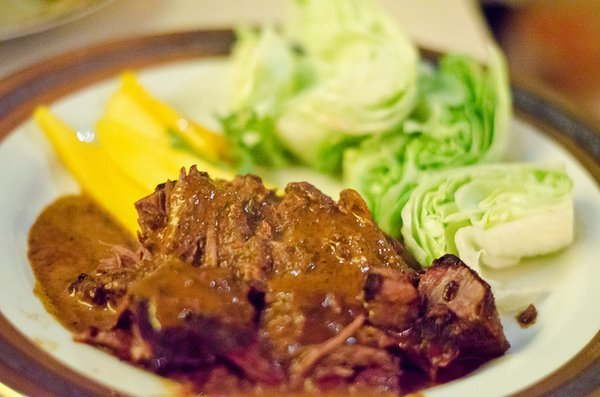 """""""The Slow Roasted Goat here is a great example of one of the country's most underutilized (and up and coming) meats. Their Di"""