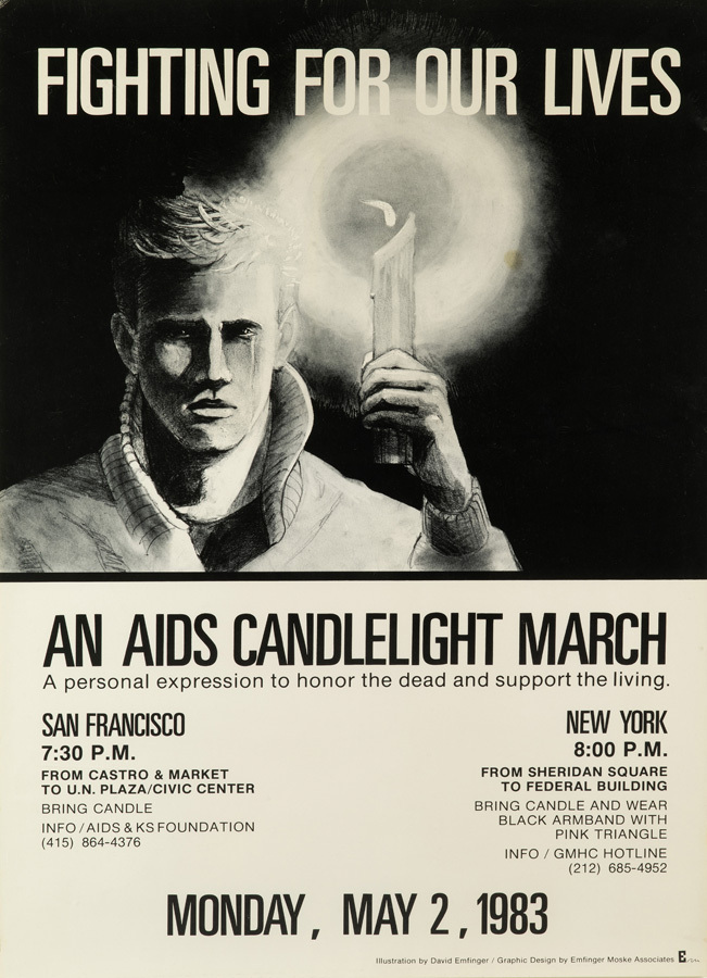 David Emfinger. Fighting for our Lives: An AIDS Candlelight March, May 2, 1983.   New-York Historical Society