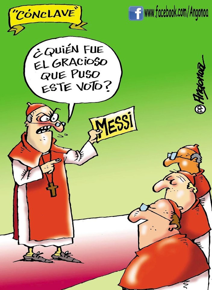 "Argentines vote for Messi as Pope.  ""Who was the joker who put this vote here?"""