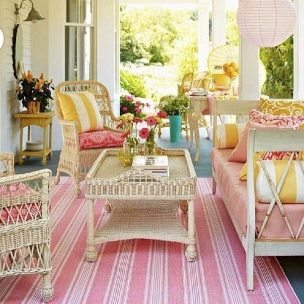 Taking the luxuries of interiors and bringing them outside is a great way to create a relaxing space.
