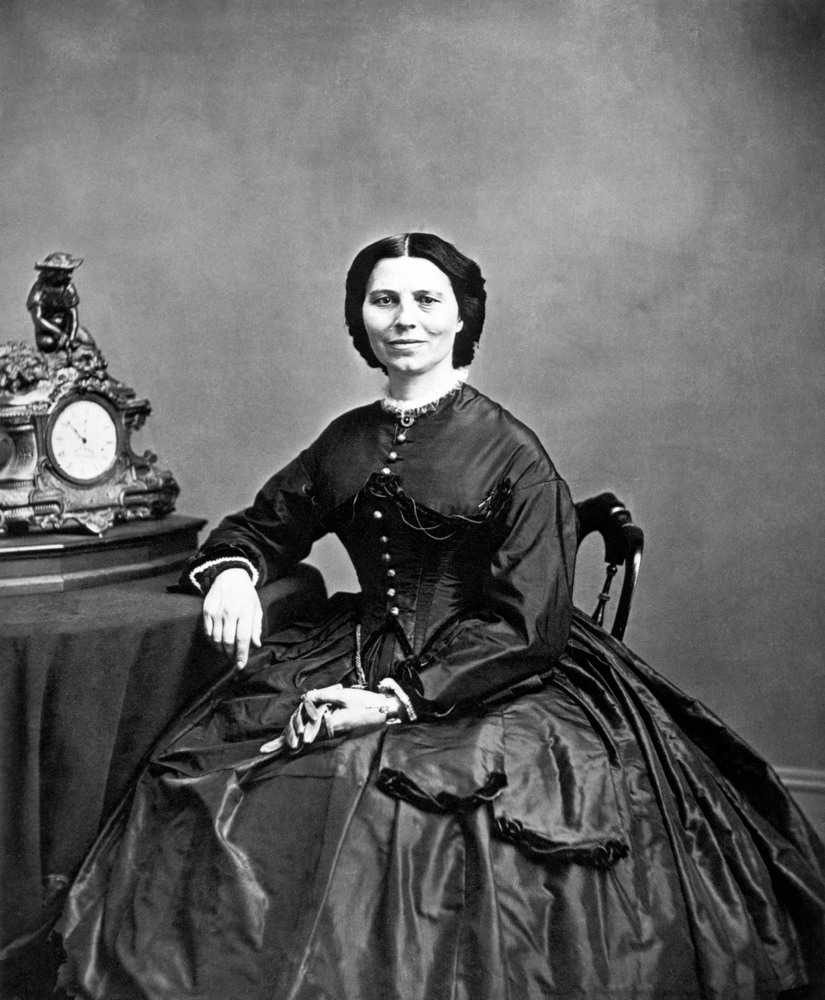 "Clara Barton (born 1821, and died 1912) is best known for being the <a href=""http://www.civilwar.org/education/history/biogra"