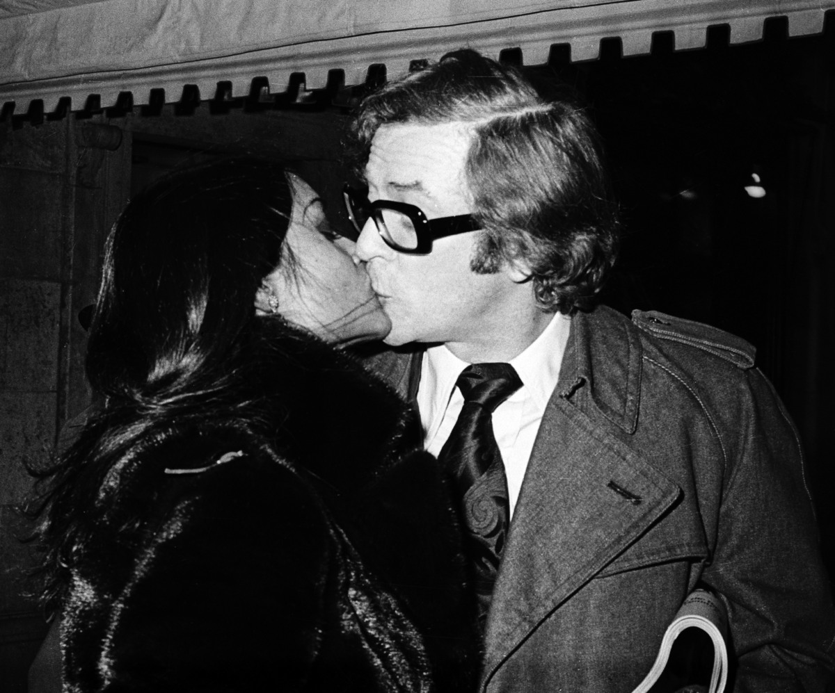 Michael Caine and wife Shakira during Michael Caine Sighting at Sherry Netherland Hotel in New York - November 1969 at Sherry