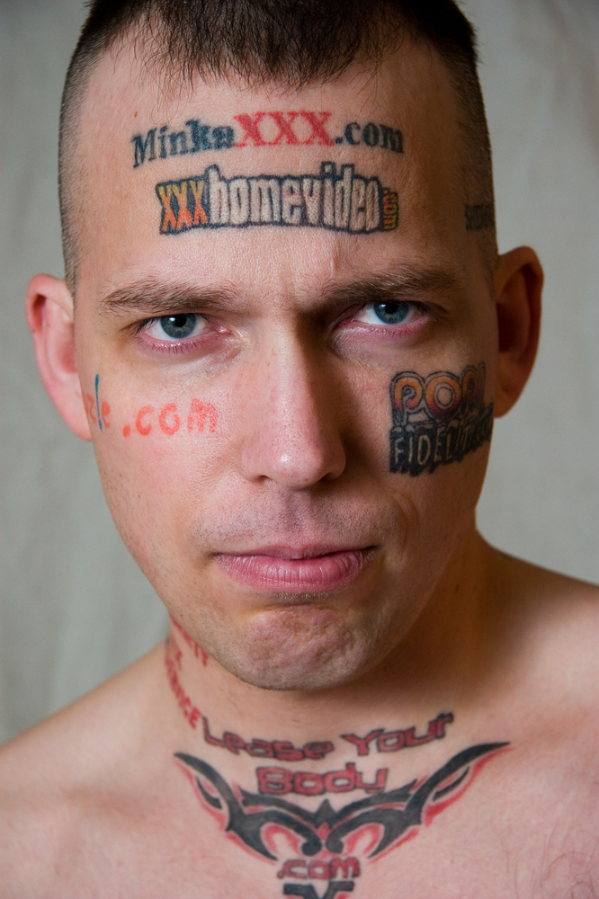Billy Gibby, whose legal name is actually Hostgator Dotcom, is tyring to raise money to remove his facial tattoos, which are