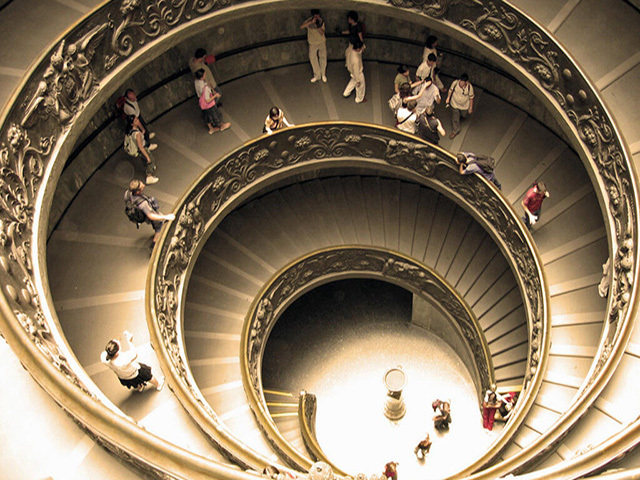 Vatican Museum staircase  -Joy Brunetti