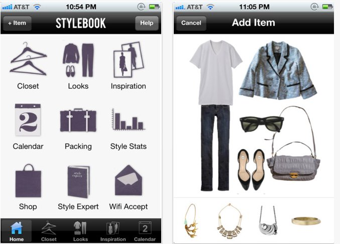 """A highly-rated wardrobe-organizing app, <a href=""""https://itunes.apple.com/app/id335709058"""" target=""""_blank"""">Stylebook</a> allo"""