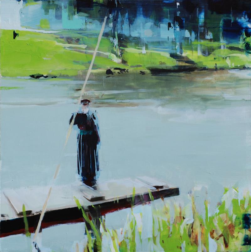 """Virgil, 2012, 18"""" x 18"""", oil on wood"""