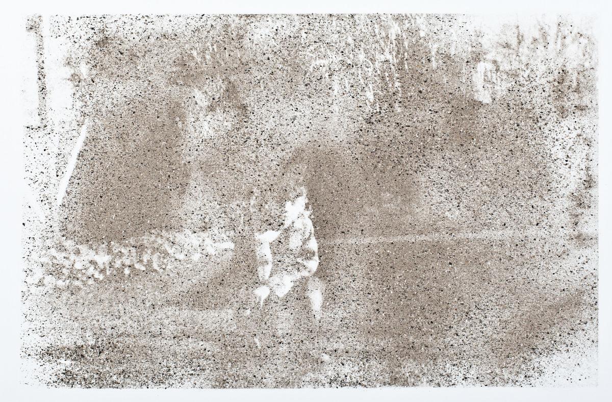 Douglas Throwell  #9, 7 Years Old, 2013 Human ash, methamphetamine and acrylic on canvas 48 x 36 in  / 121.9 x 91.4 cm