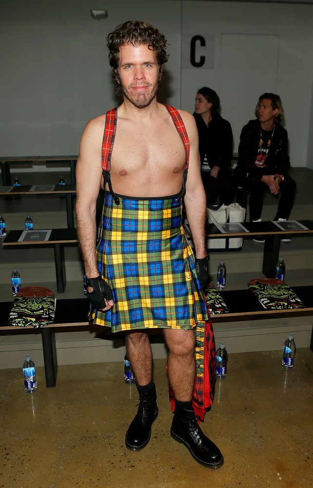 Perez Hilton attends the Jeremy Scott fall 2013 fashion show during MADE fashion week at Milk Studios on February 13, 2013 in