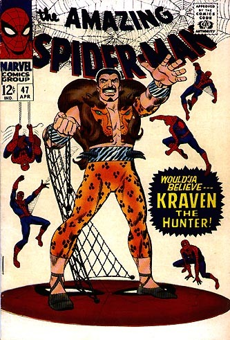 "<a href=""http://www.harkavagrant.com/index.php?id=324"" target=""_blank"">Kraven the Hunter</a> is a big-game hunter whose only"