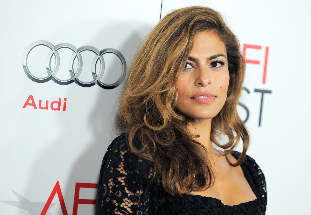 """FILE - This Nov. 3, 2012 file photo shows actress Eva Mendes at the """"Holy Motors"""" special screening as part of AFI Fest in Lo"""