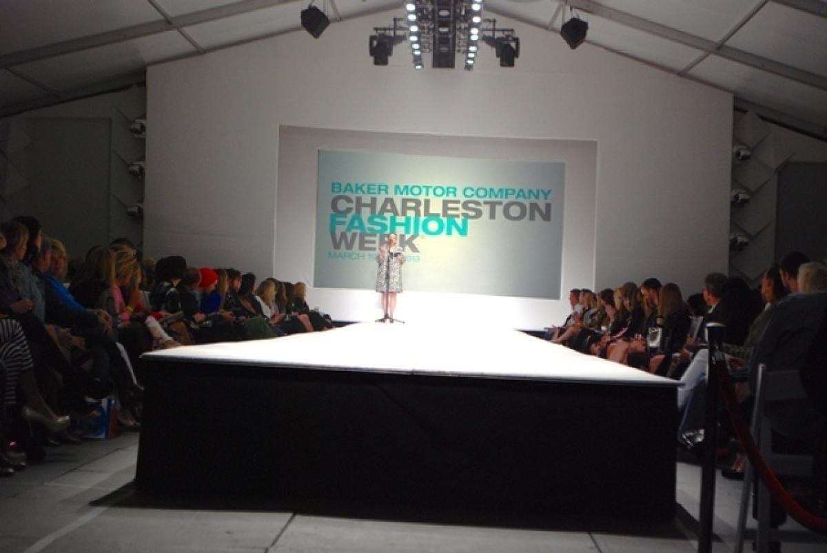 Arlene Goldstein presents at Charleston Fashion Week. Photo credit: Belk