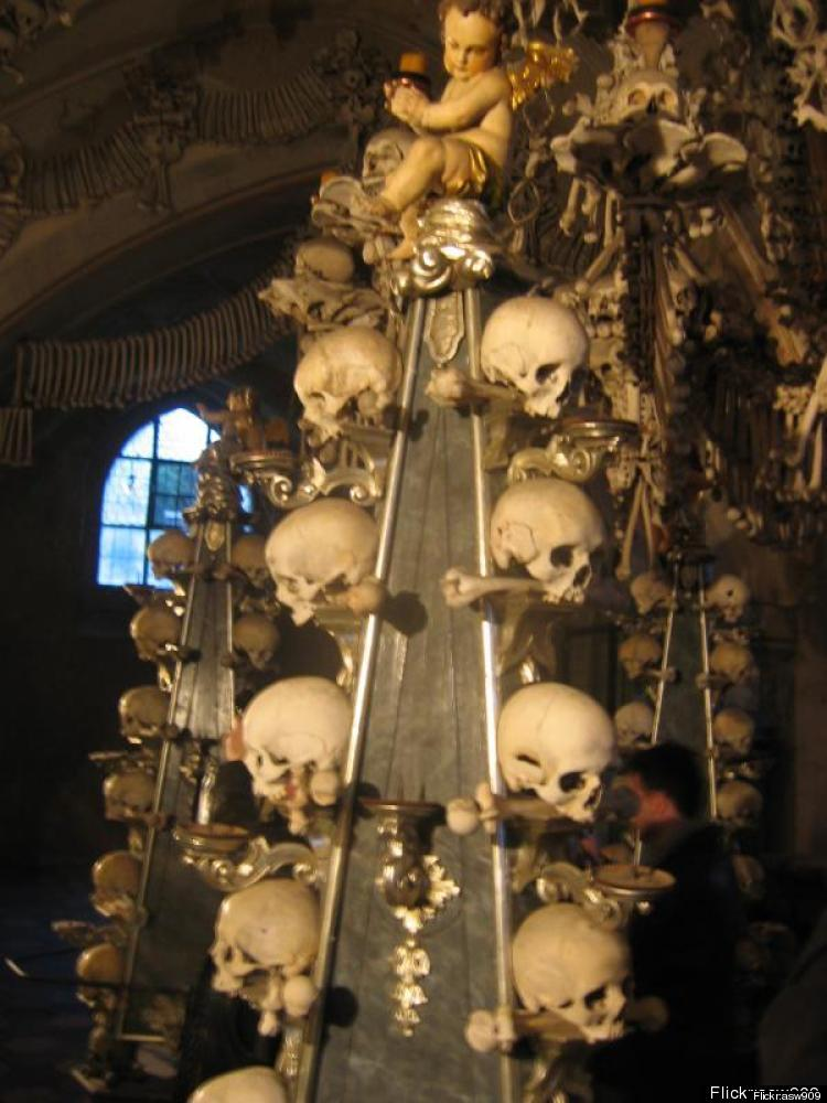 Deep below a cemetery in Kutná in the Czech Republic lies a small Roman Catholic chapel of decidedly spooky proportions.