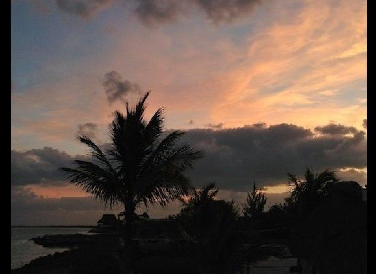 Holbox's sunrises are a symphony of colors.