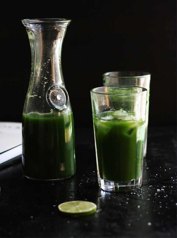 """<strong>Get the <a href=""""http://www.cookrepublic.com/recipe-archive/think-green-juice/"""" target=""""_blank"""">Green Juice recipe</a"""